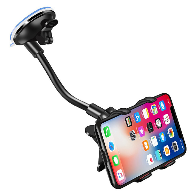 Car Phone Holder 360 Degree Rotate Mobile Phone Stand Car Mount For iphone 11 Pro XS X Windshield Long Clip Phone Car Holder