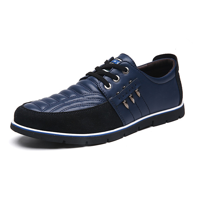 Men's Spring / Summer Business / Classic / Casual Daily Office & Career Oxfords Walking Shoes Faux Leather Breathable Non-slipping Wear Proof Black / Blue / Brown