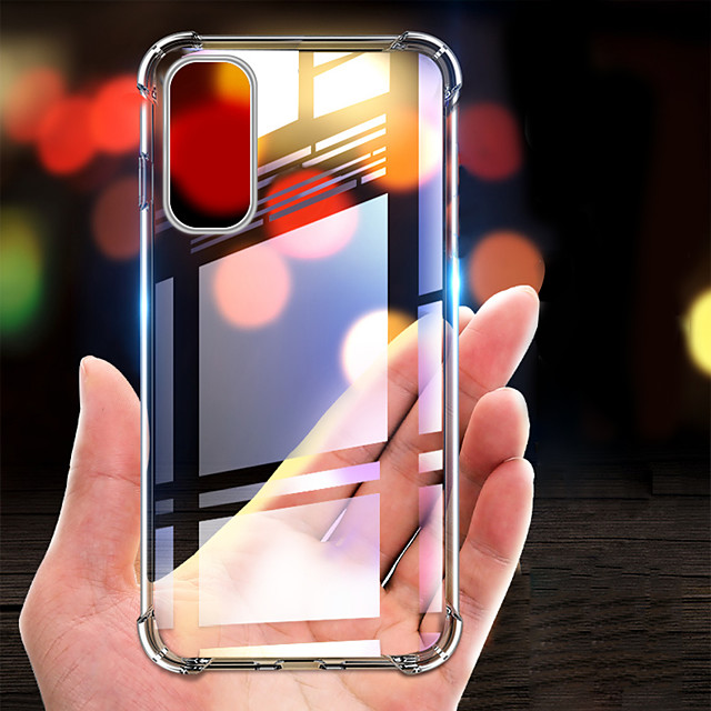 Shockproof Airbag Clear TPU Case For Samsung Galaxy S20 Ultra A51 S20 Plus A71 A81 A91 A41 A21 S10 Plus S10e S8 S9 Plus Note 10 Pro A90 A80 A70 A50 A40 A30 A20e A10 A7 2018 Transparent Back Cover