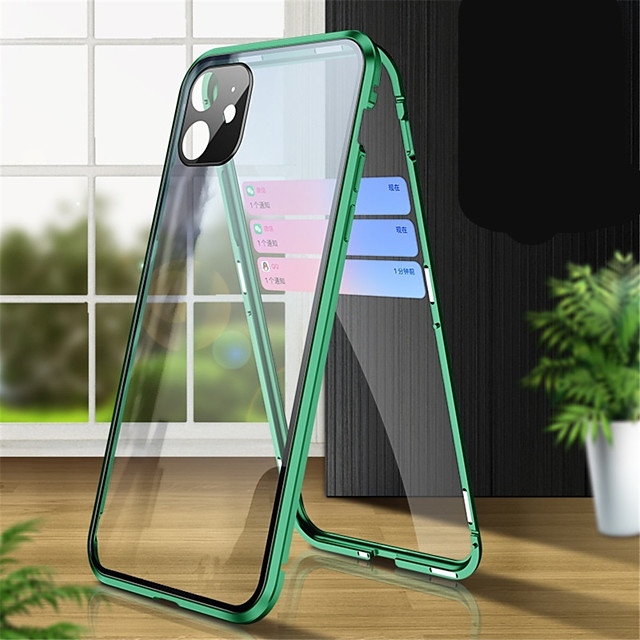 Magnetic Case For iPhone SE2020 / X / XS / XR / XS MAX / 8 / 8Plus / 7 / 7Plus Case Adsorption Tempered Glass Double Sided Case Mobile Protective Case For iPhone 11ProMax / 11 / 11Pro