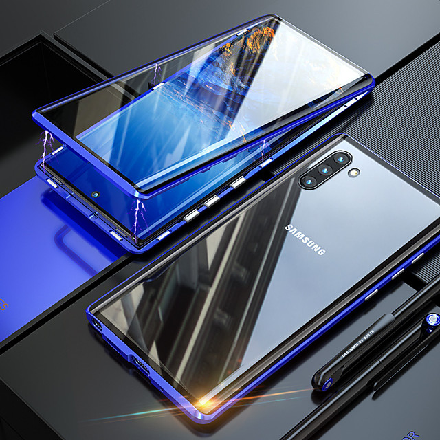 Double-sided glass Magneto for Samsung Note10 Pro Plus Note9 Note8 Magnetic Phone Case S10 / 9/8 Plus A20 / A30 A50 A51 A70 A71 A90 M40S Magnetic Phone Case