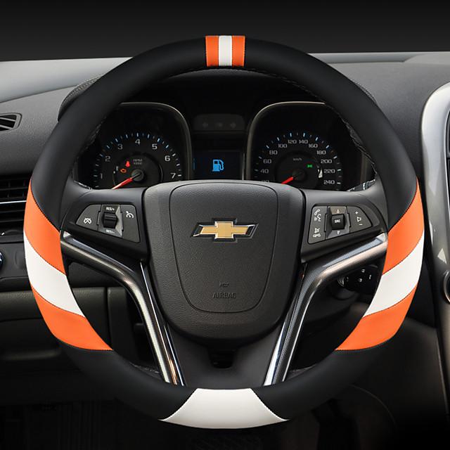 fashion Car Steering Wheel Covers Leather 38cm Breathable Anti Slip For Chevrole Car Four Seasons