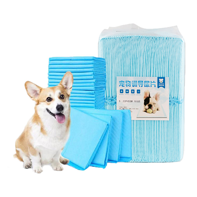 Dog Cat Pets Cleaning Non-woven Dog Clean Supply Waterproof Portable Trainer Pet Grooming Supplies Blue