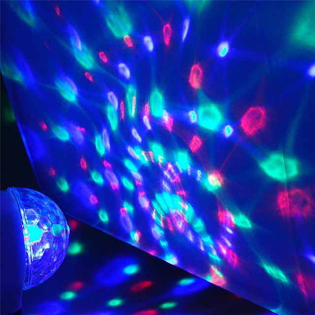 1X Mini USB Disco Light LED Party Lights Portable Crystal Magic Ball Colorful Effect Stage Lamp For Home Party Karaoke Decor (send random body color)