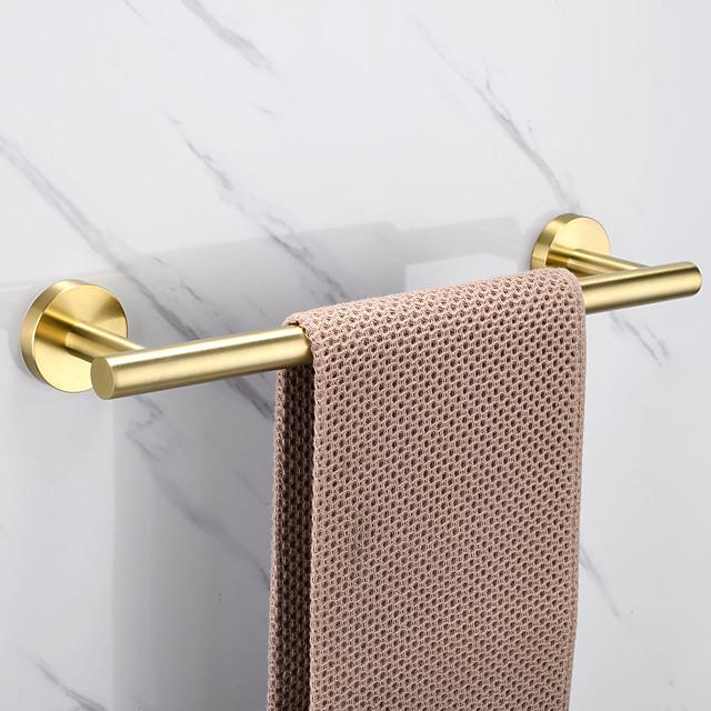 Towel Bar Stainless Steel Bathroom Shelf Single Rod Wall Mounted New Desig 1 pc 30/40/45/50/60cm