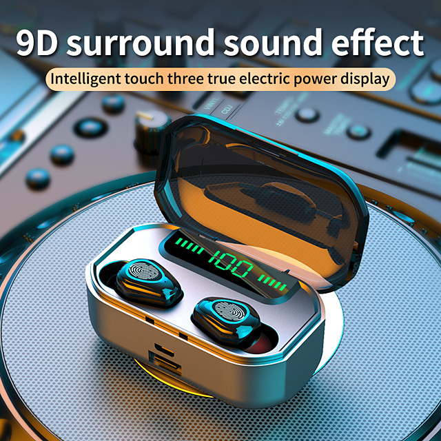 LITBest G20 TWS Earbuds Wireless 3500mah Headphones Bluetooth V5.0 Earphone Stereo HIFI with Charging Box IPX5 Waterproof for phone