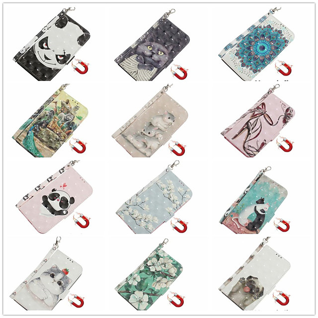 Case for Apple scene map iPhone 11 11 Pro 11 Pro Max 3D cartoon pattern shiny flip leather case PU material pluggable leather case phone case TX