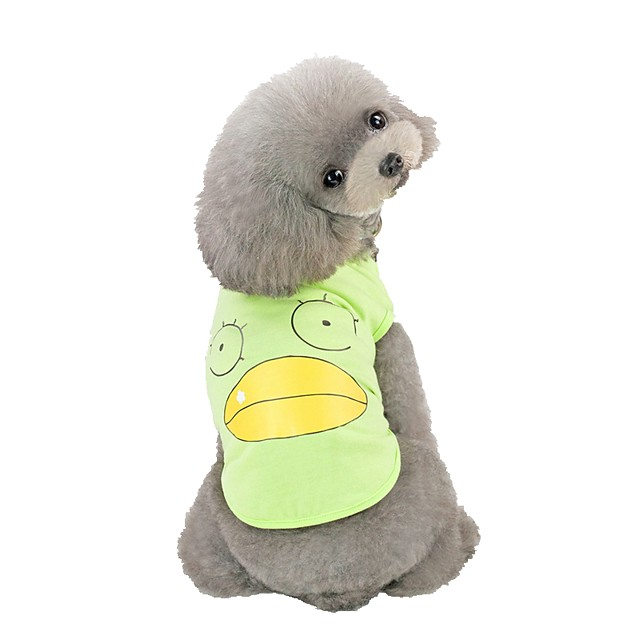 Dog Vest Character Casual / Daily Dog Clothes Pink Green Gray Costume Cotton S M L XL XXL