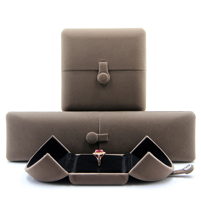 Round Jewelry Packaging - Light Gray 4 cm 7.5 cm 5.5 cm / Women's