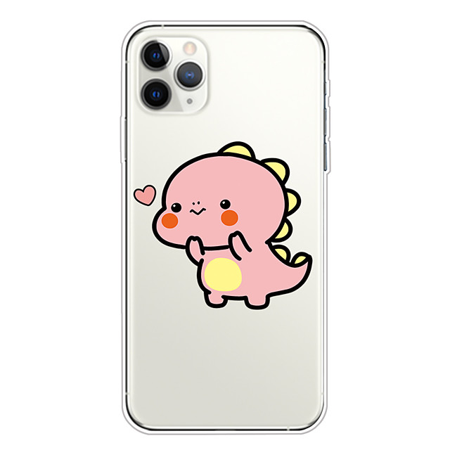 Case For Apple iPhone 11/11 Pro/11 Pro Max/XS/XR/XS Max/8 Plus/7 Plus/6S Plus/8/7/6/6s/SE/5/5S Transparent Pattern Back Cover Pink Disdain expression Soft TPU