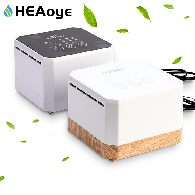 Negative Ion Generator Air Purifier For Home office Active Carbon HEPA Filter Desktop  Mini Air Ionizer Compact Air Cleaner