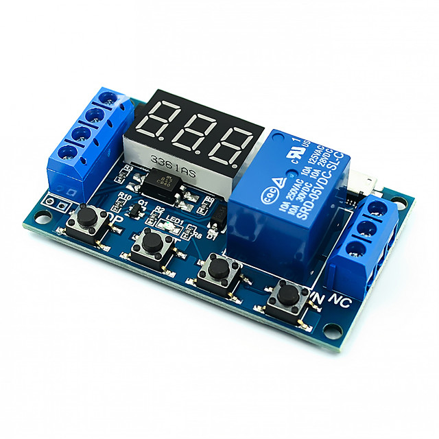1 One Channel Relay Module Delayed Power off Disconnected Trigger Delay Cyclic Timing Circuit Switch