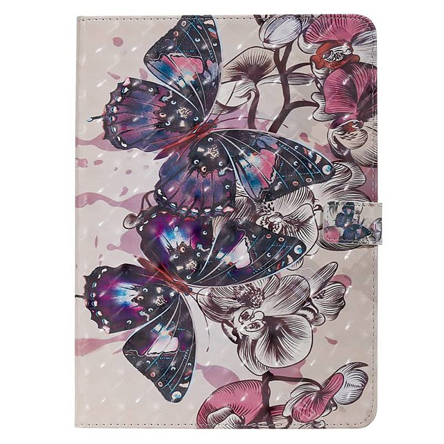 Case For Apple iPad New Air 10.5 / iPad Mini 3/2/1/4/5 Wallet / Card Holder / with Stand Full Body Cases Butterfly PU Leather For iPad 10.2 2019/Pro 11 2020/Pro 9.7/2017/2018/iPad 2/3/4