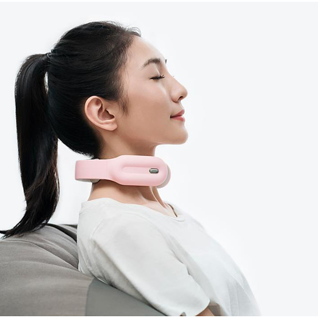 Intelligent Neck Massager Wireless Electric Neck Massager Travel Neck Massage Equipment with Heating Vibration Impulse Function Use at Home Car Office and Travel Multi-mode Select