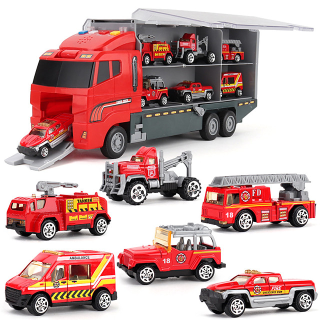 1:64 Plastic Metal Truck Race Car Diecast Vehicle Construction Set Toys Car Simulation Parent-Child Interaction Boys' Kids Car Toys