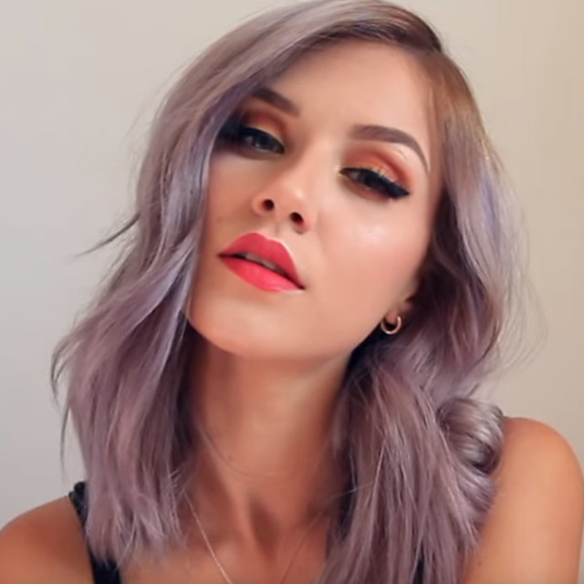 Synthetic Wig kinky Straight Asymmetrical Wig Long Silver grey Synthetic Hair 18 inch Women's Women Easy dressing Highlighted / Balayage Hair Silver