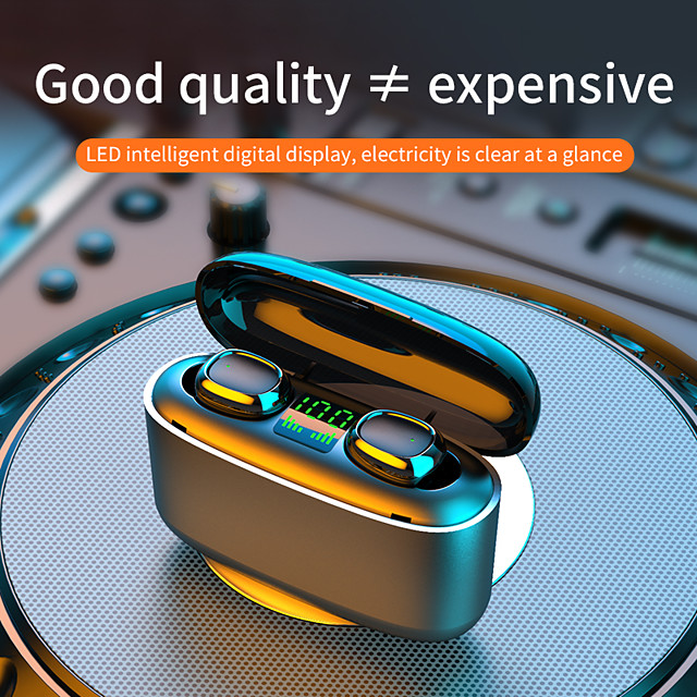 G5s True Wireless Smart Bluetooth 5.1 Headset Led Power Display Hd Call Large Capacity Charging Cabin Hifi Sound Quality Waterproof And Sweatproof