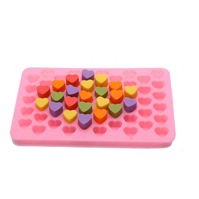 55 Grid Silicone Ice Maker Mould Chocolate Mold Tray Creative Heart Shaped Ice Cube Cake decoration Mold
