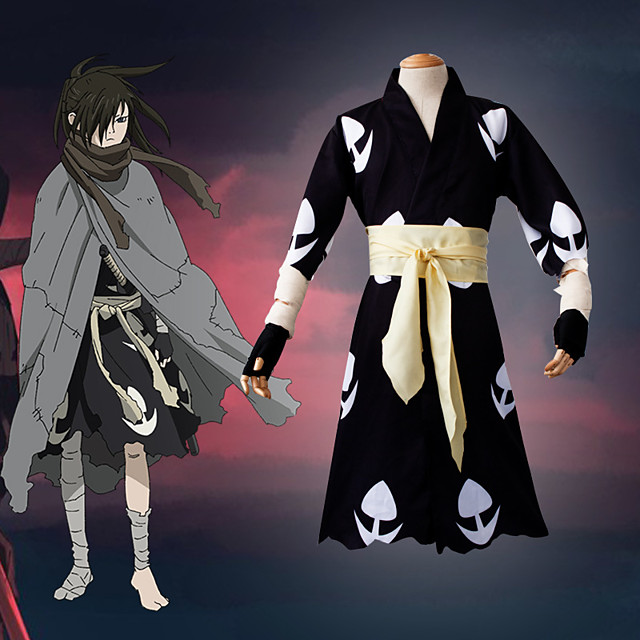 Inspired by Cosplay Anime Cosplay Costumes Japanese Cosplay Suits Gloves Scarf Kimono Coat For Men's / Waist Belt