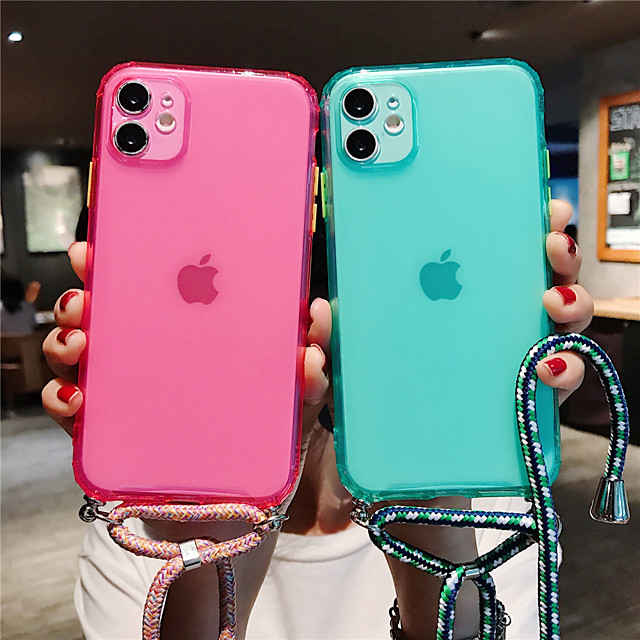 Crossbody Lanyard Frosted Clear Case For iPhone 11/11Pro /11 Pro Max / SE 2020 / X / XS / XR / XS Max / 8Plus / 8 / 7Plus / 7 / 6S Plus / 6s / 6Plus / 6 Hang Shoulder Strap Rope Cover Capa