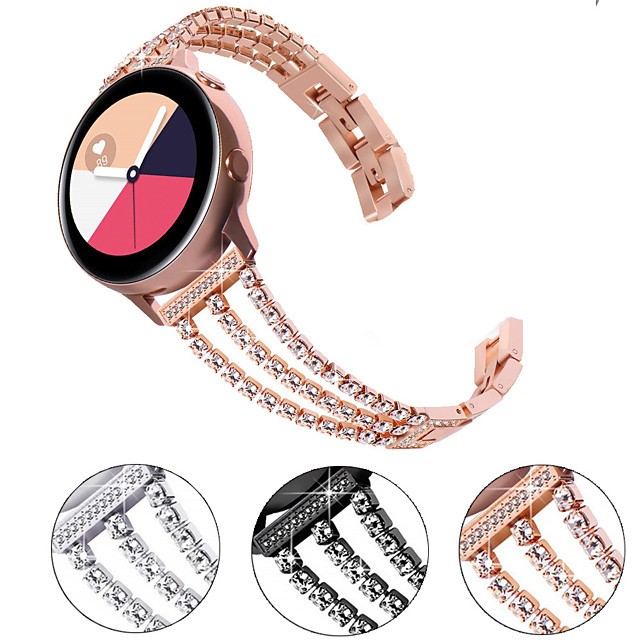 Watch Band for Samsung Galaxy Watch 46mm / Huawei Watch GT 2 / Samsung Galaxy Watch Active 2 Samsung Galaxy Jewelry Design Stainless Steel Wrist Strap
