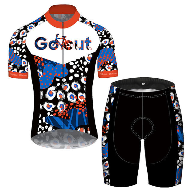 21Grams Men's Short Sleeve Cycling Jersey with Shorts Spandex Polyester Blue Oktoberfest Beer Bike Clothing Suit UV Resistant Breathable Quick Dry Sweat-wicking Sports Oktoberfest Beer Mountain Bike