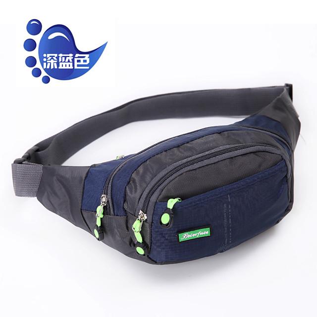 Running Belt Fanny Pack Waist Bag / Waist pack 10 L for Camping / Hiking Climbing Leisure Sports Sports Bag Multifunctional Breathable Rain Waterproof Running Bag
