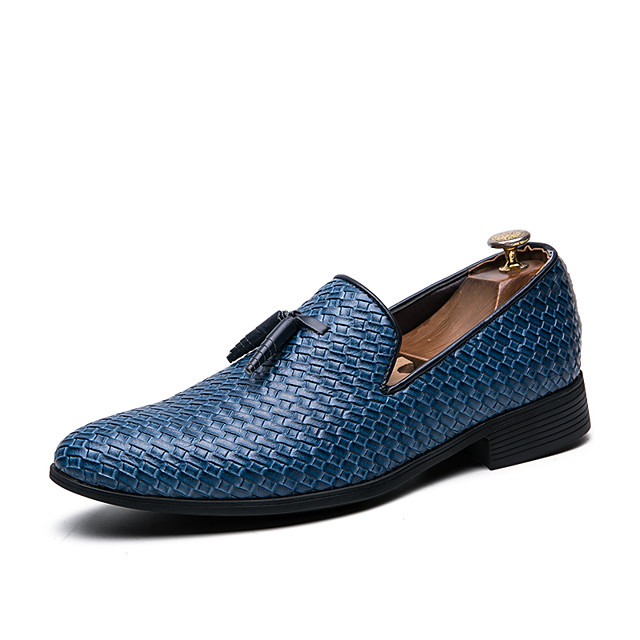 Men's Spring & Summer / Fall & Winter Classic / British Daily Outdoor Loafers & Slip-Ons Walking Shoes Leather Breathable Wear Proof Black / Blue / Gray