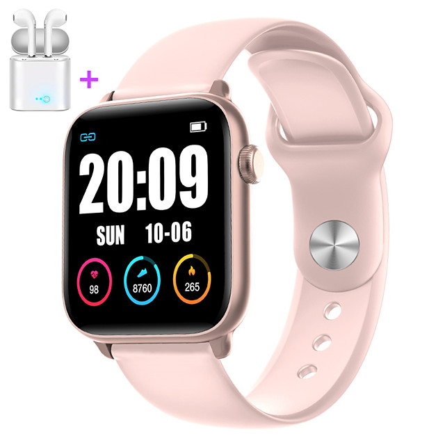JSBP PW66  Women Smart Bracelet Smartwatch BT Fitness Equipment Monitor Waterproof with TWS Bluetooth Wireless Headphones Music Headphones for Android Samsung/Huawei/Xiaomi iOS Mobile Phone