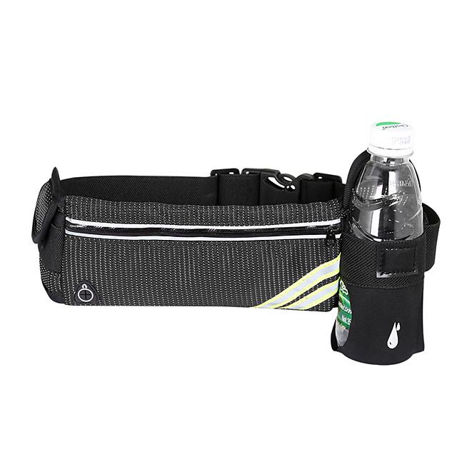 Running Belt Fanny Pack Belt Pouch / Belt Bag for Hiking Outdoor Exercise Running Traveling Sports Bag Reflective Adjustable Waterproof with Water Bottle Holder Polyester Men's Women's Running Bag