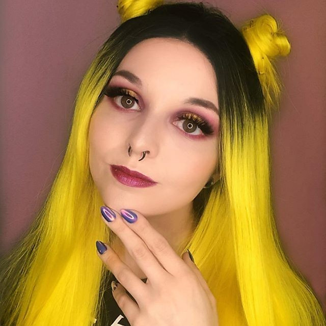 Synthetic Lace Front Wig Straight Gaga Middle Part Lace Front Wig Long Yellow Synthetic Hair 22-26 inch Women's Heat Resistant Women Hot Sale Ombre Yellow / Glueless