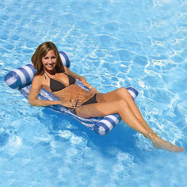 Oppblåsbare bassengflåter Oppblåsbare basseng vann Hammock Drifter pool Hammock Utendørs Bærbar PVC Sommer Pool Farge 1 pcs Unisex Voksne