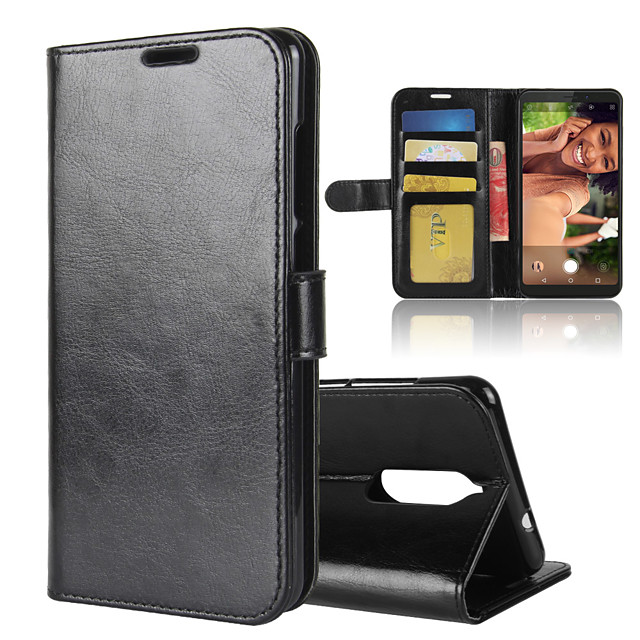 Case For Wiko Wiko View 3 / Wiko Harry 2 / Wiko View Go Wallet / Card Holder / Shockproof Full Body Cases Solid Colored PU Leather