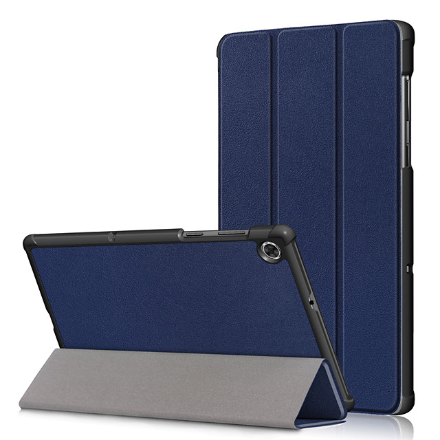 Case For Lenovo Lenovo Tab M8 HD TB-8505F / X / Tab M8 FHD TB-8705F / N / Lenovo Tab M7 TB-7305F / Lenovo Tab 7 / Tab4 7(TB-7504F / N / X) Shockproof Full Body Cases Solid Colored PU Leather