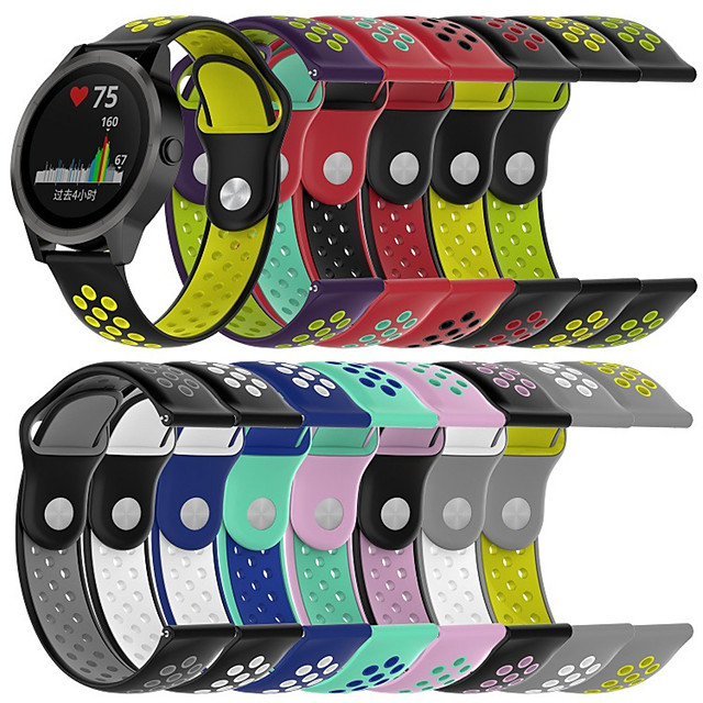 Watch Band for Vivomove / Vivomove HR / Vivoactive 3 Garmin Sport Band Silicone Wrist Strap