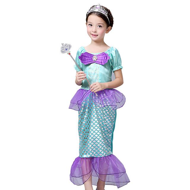 The Little Mermaid Princess Dress Flower Girl Dress Girls' Movie Cosplay Purple Dress Children's Day Masquerade Satin / Tulle