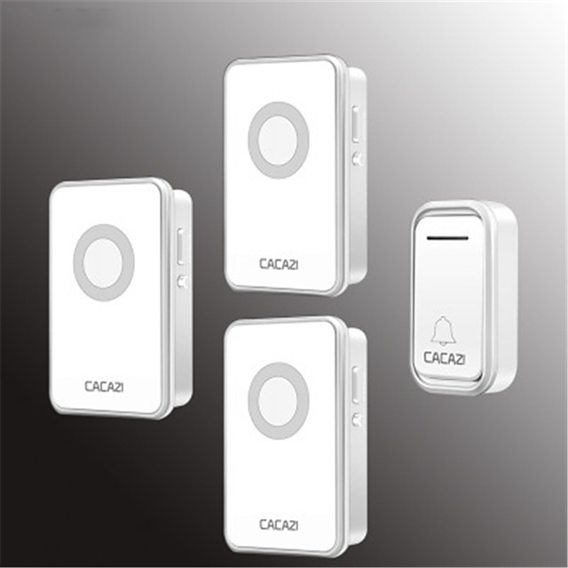CACAZI Smart Wireless Doorbell Waterproof 300M Remote US EU UK AU Plug Home Call Ring Bell Electric Bell 38 Chimes 80 DB 220V