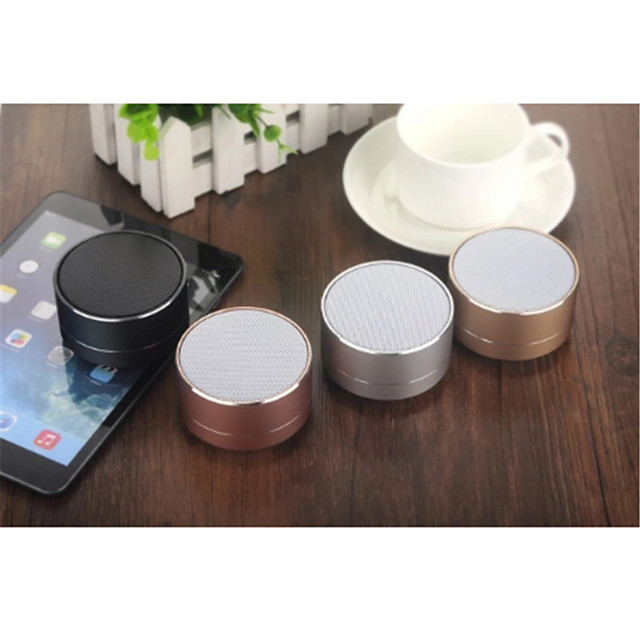 A10 Portable Wireless Bluetooth Speaker Small Steel Gun Mobile SIM Card Speaker Aluminum Alloy Card