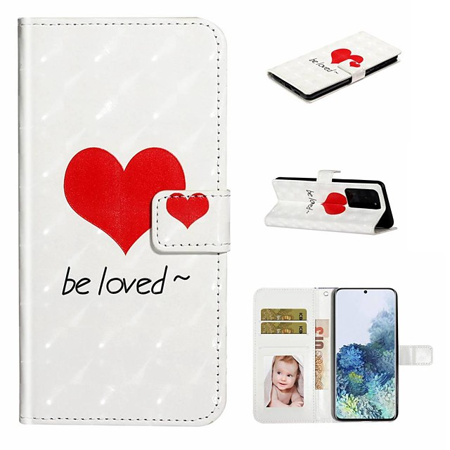 Case For Samsung Galaxy S20 / Galaxy S20 Plus / Galaxy S20 Ultra Wallet / Card Holder / with Stand Full Body Cases Love PU Leather / TPU for Galaxy A51 / A71 / A80 / A70 / A50 / A30S / A20