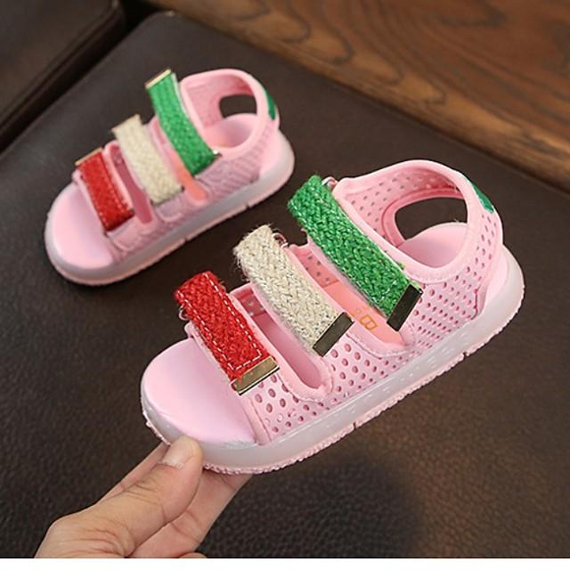Girls' Comfort PU Sandals Big Kids(7years +) White / Black / Pink Spring