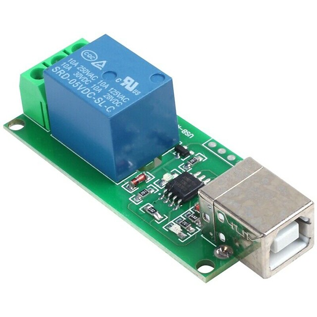 5V USB Relay Module 1 Channel Computer Control Relay Switch PC Intelligent