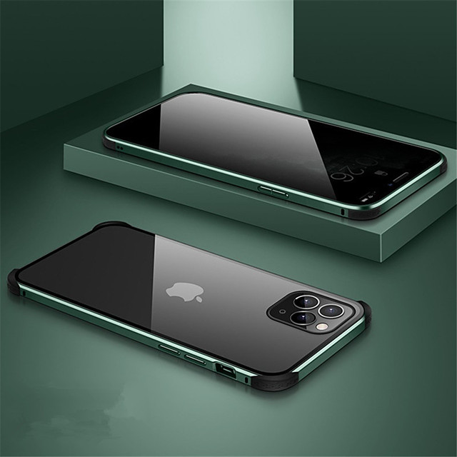 Magnetic Case For iPhone 11 / 11 Pro / 11 Pro Max Anti Peep Case Privacy Double Sided Case 360 Protection Tempered Glass Case 360 Protective Cover