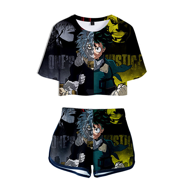 Inspired by My Hero Academia Boko No Hero Bakugou Katsuki Cosplay Costume Outfits Polyster Print Printing Shorts For Men's / Women's / T-shirt