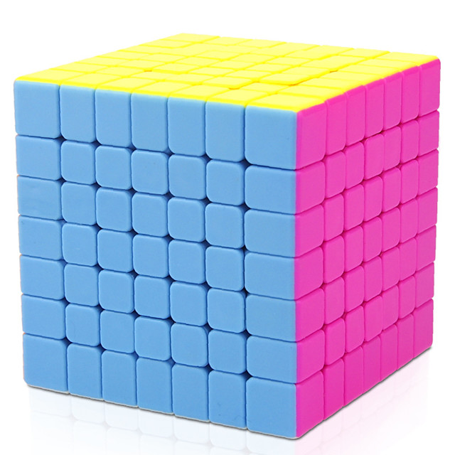 Speed Cube Set 1 pc Magic Cube IQ Cube Pyramid Alien Megaminx 7*7*7 Magic Cube Puzzle Cube Professional Level Stress and Anxiety Relief Focus Toy Classic & Timeless Kid's Adults' Toy All Gift