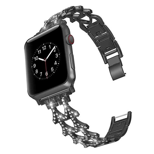 Double word set auger alloy steel belt strap for  Apple band 42/44 mm 38/40 mm iWatch series 5  Steel belt