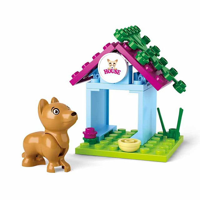 Building Blocks Educational Toy 19 pcs Dog House Cartoon compatible Plastic Shell Legoing Exquisite Hand-made Decompression Toys DIY Boys and Girls Toy Gift / Kid's
