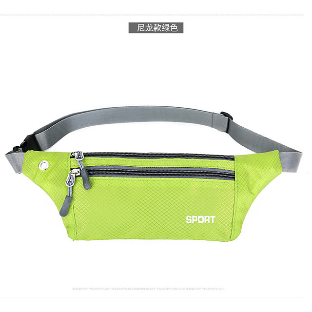 2 L Waist Bag / Waistpack Waterproof Wearable Shockproof Outdoor Blushing Pink LightBlue Gray