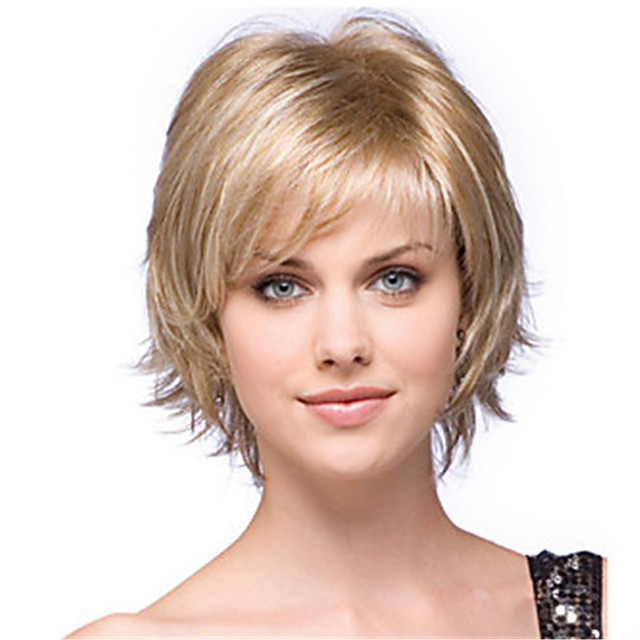 Synthetic Wig Dry Matte Short Bob Wig Short Light golden Synthetic Hair 6 inch Women's Classic Easy dressing Best Quality Blonde