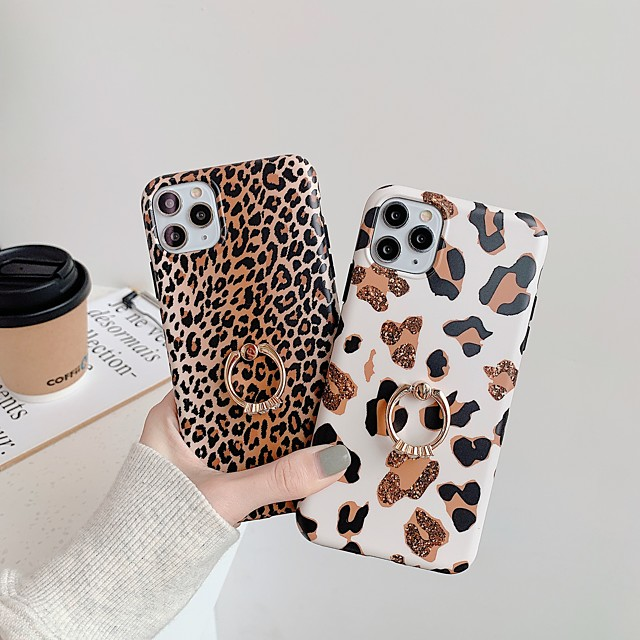 Case For Apple iPhone 11 / iPhone 11 Pro / iPhone 11 Pro Max Ring Holder / IMD / Frosted Back Cover Animal TPU