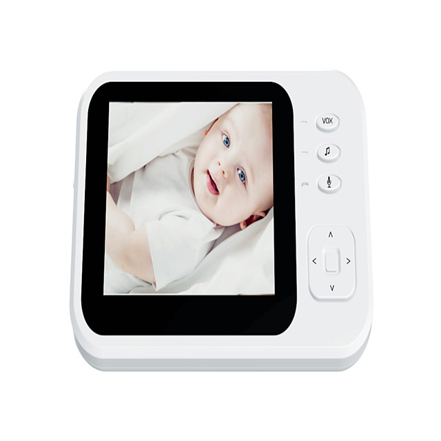 3.5-inch Wireless Digital Baby Monitor Two-way Intercom Music Room Temperature Monitor Night Vision Zoom Expansion Head